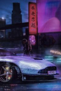 Cyberpunk Car Art