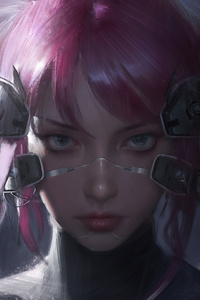 Cyberpunk Catgirl 4k