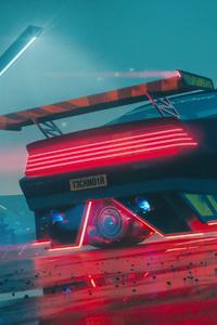 Cyberpunk Chevy Camaro 4k