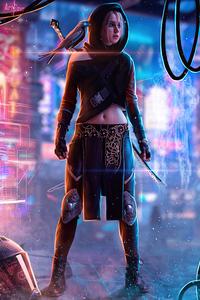 Cyberpunk Ciri 4k