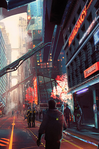Cyberpunk City Future Digital Art