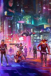 Cyberpunk City Of Shadow 4k