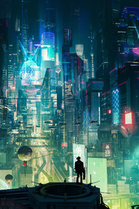 1080x2160 Cyberpunk City