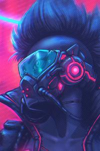 540x960 Cyberpunk Colorful Art