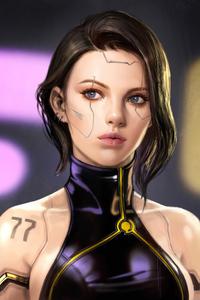 Cyberpunk Cool Girl 4k