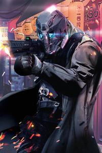 1125x2436 Cyberpunk Cyborg 4k