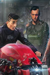 Cyberpunk Cyborg Motorcycle Robot Robots Scifi 8k