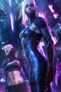 800x1280 Cyberpunk Cyborgs Women 4k