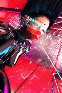 Cyberpunk Digital Girl 4k