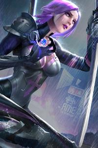 640x1136 Cyberpunk Era Girl 8k