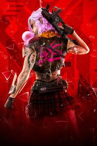 1440x2960 Cyberpunk Girl 4k 2020