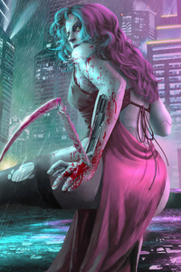 Cyberpunk Girl Art
