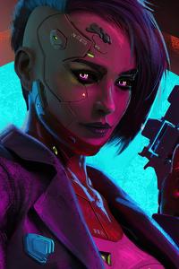 Cyberpunk Girl Gun