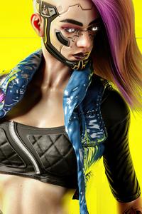 1280x2120 Cyberpunk Girl V 5k
