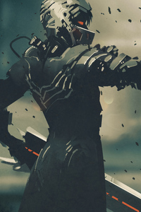 Cyberpunk Gun Armor