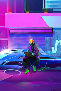 Cyberpunk Hacker Time
