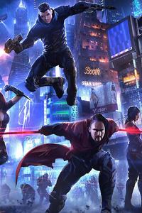 1125x2436 Cyberpunk Heroes 4k