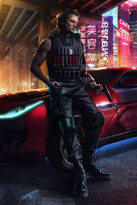 Cyberpunk Mafia Gang Boy 8k