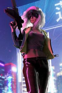 Cyberpunk Mercenary Girl 4k