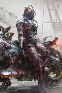 Cyberpunk Motorbike 4k