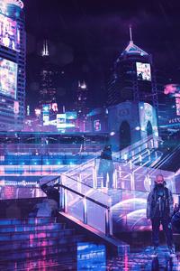1080x1920 Cyberpunk Neon City