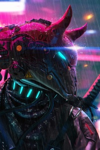 Cyberpunk Neon Science Fiction Police