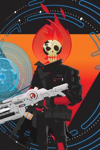 Cyberpunk Pacman Blinky