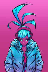 800x1280 Cyberpunk Pink 4k