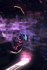 Cyberpunk Police Digital Art Futuristic