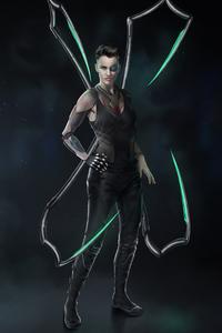 640x1136 Cyberpunk Ruby Rose