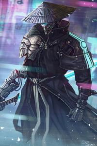 540x960 Cyberpunk Samurai 4k