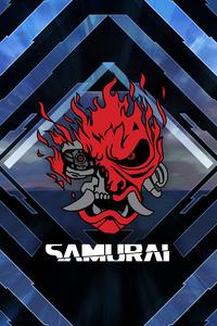 540x960 Cyberpunk Samurai Logo 4k