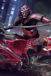 720x1280 Cyberpunk Samurai