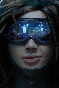 Cyberpunk Scifi Girl