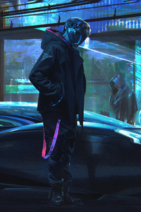 Cyberpunk Scifi Gravity Sketch Digital Art