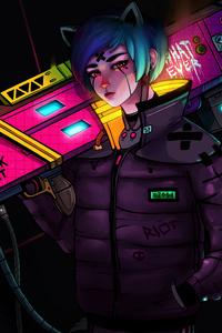Cyberpunk Steroe Girl