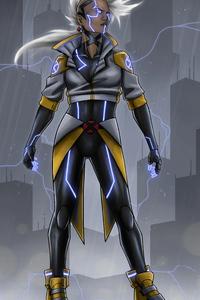 540x960 Cyberpunk Storm Girl 4k