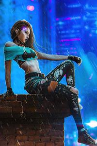 Cyberpunk Style Modern Girl 4k