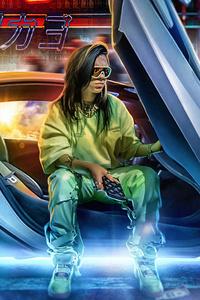 Cyberpunk Women Car