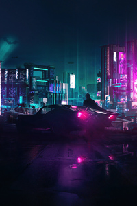 720x1280 Cyberpunk X The Batman 4k
