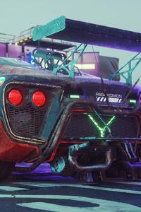 800x1280 Cyberpunkish Flanker F Concept Car 4k