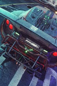Cyberpunkish Flanker F Concept Car