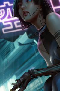 Cyborg Cyberpunk Girl 4k