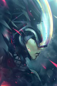 1440x2960 Cyborg Girl 4k