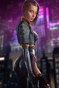 2160x3840 Cyborg Girl Cyberpunk Neon 4k