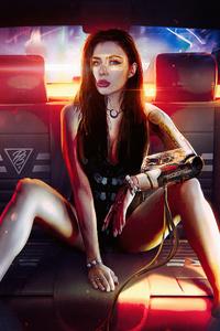 Cyborg Girl Manipulation 4k