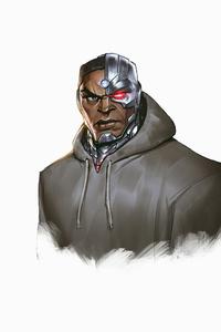 Cyborg Minimal Cartoon 4k