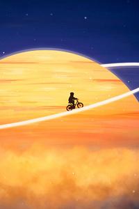 480x854 Cyclist Revolving Around Orbit 4k