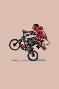 2160x3840 Cyclist Wheelie Minimal 4k