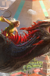 Daenerys And Dragon 4k